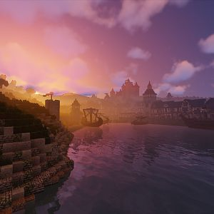 Lord Hewett's Town at sunrise